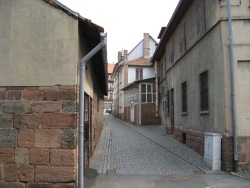 The backstreets of Vacha, now quiet
