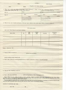 Affidavit of Immigration Support