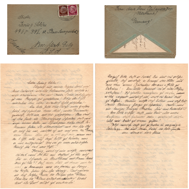 Letter to Irving from Mare Fleru