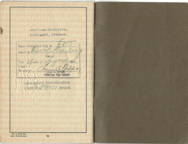 Heinrich Sternberg - US Visa