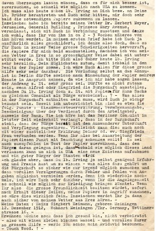 Letter from Heinz Heimann, June 9 1938 - 2