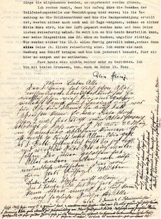 Letter from Heinz Heimann, February 16, 1939 - 2