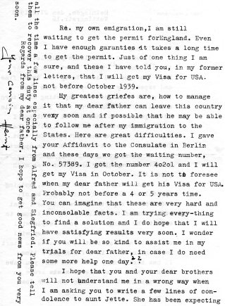 Letter from Heinz Heimann, February 27, 1939 - 2